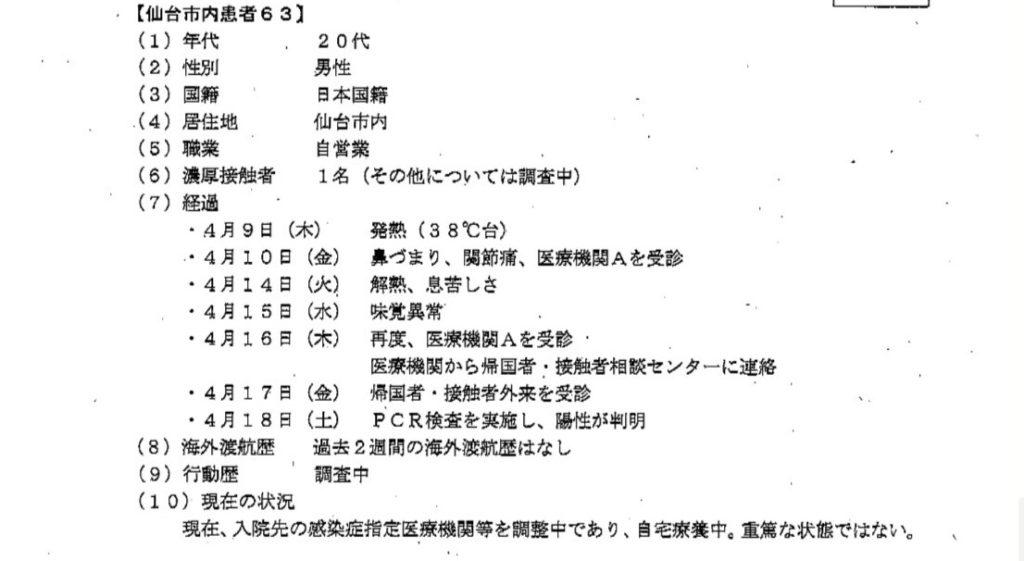 仙台コロナ自営業