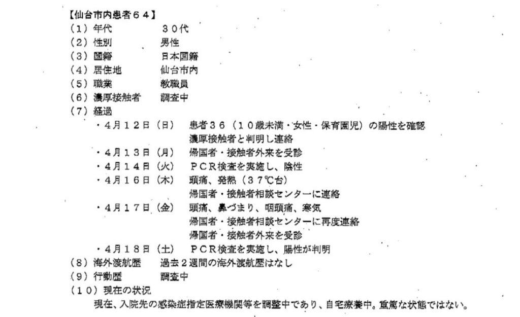 仙台コロナ教職員