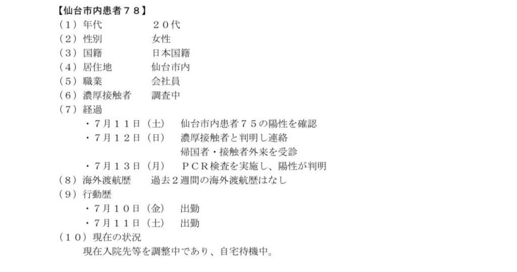 仙台コロナ 仙台75