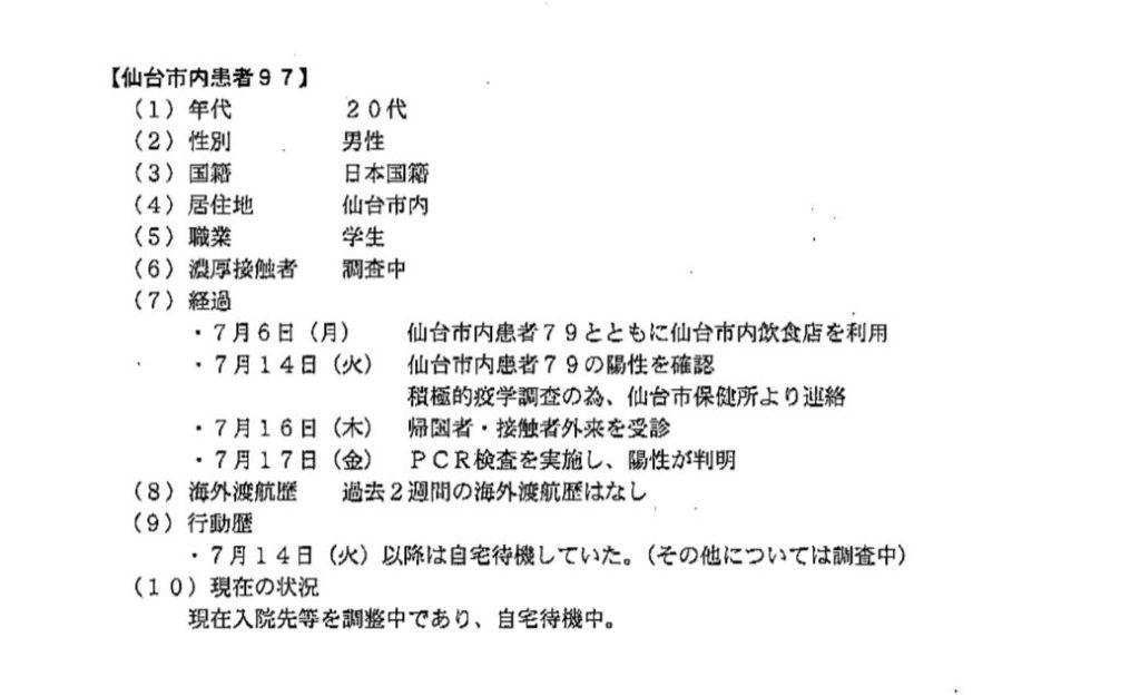 仙台コロナ 男子学生