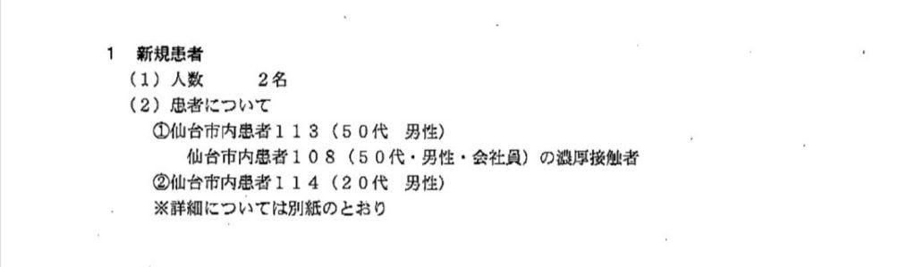 仙台コロナ 7月28日