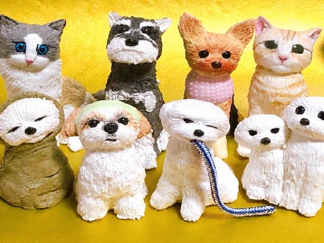 犬猫フィギア作成